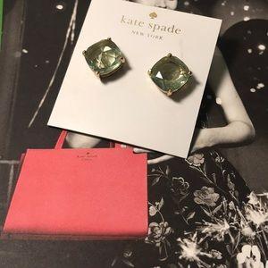 Kate spade earrings EUC blue gold